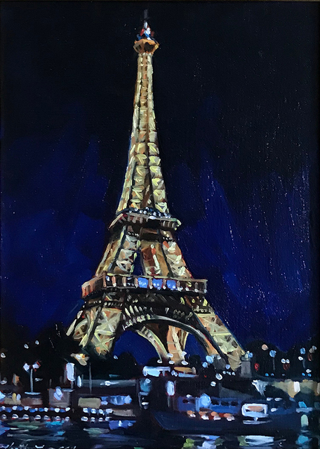 , 'Eiffel Tower at Night,' , Peninsula Gallery