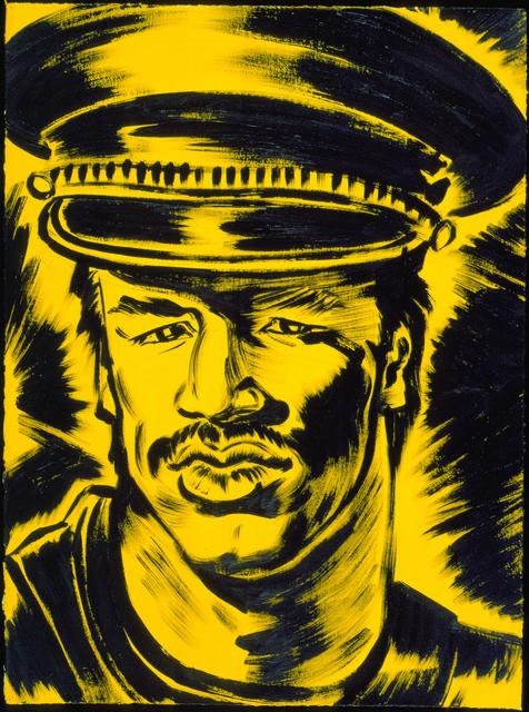 """, 'Portrait: Bill """"Blast"""" Cordero,' 1985, El Museo del Barrio"""