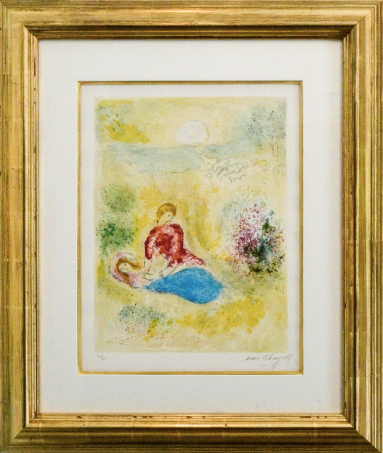 Marc Chagall, 'The Little Swallow (Daphnis and Chloe Suite)', 1961, Print, Original lithograph printed in colors on Arches wove paper, Galerie d'Orsay
