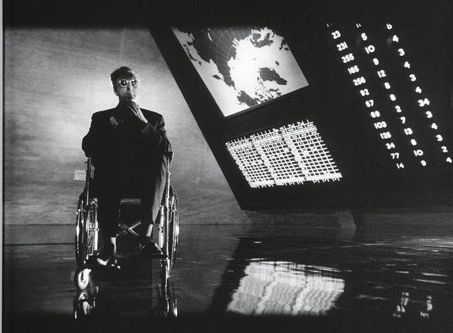 , 'Dr. Strangelove or: How I Learned to Stop Worrying and Love the Bomb, directed by Stanley Kubrick (1963-64; GB/United States). Peter Sellers as Dr. Strangelove.,' 1963-1964, Kunstforeningen GL STRAND