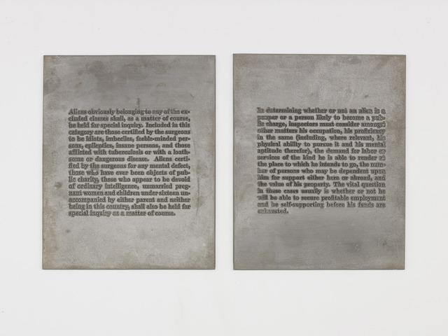 , 'Aliens,' 1989, Galerie Buchholz