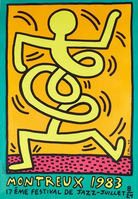 Keith Haring, 'Montreux Jazz Festival', 1983, Roseberys