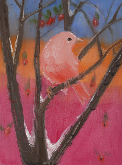 Ann Craven, 'Pink Canary (Stepping Out on Blue)', 2017, Nina Johnson