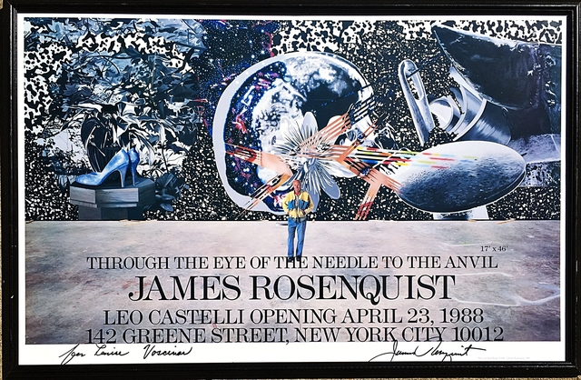 James Rosenquist, 'Rosenquist at Leo Castelli, Hand Signed ', 1988, Ephemera or Merchandise, Offset Lithograph Poster (Hand Signed and Dedicated). Framed., Alpha 137 Gallery