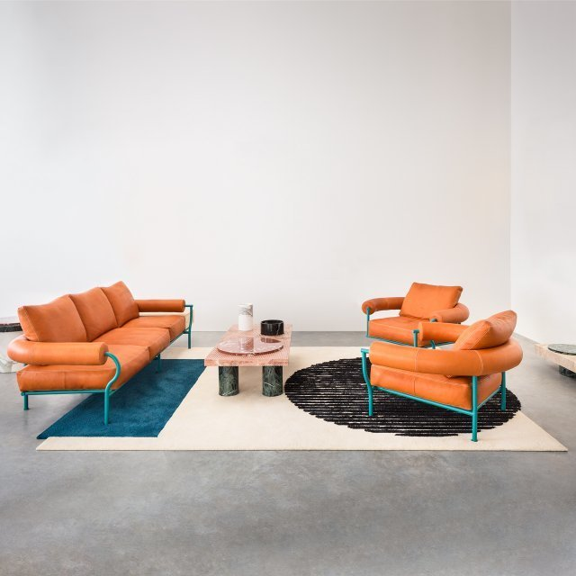 , 'the Vaalbeek project - triple & single couches + rug,' 2016, Victor Hunt Designart Dealer