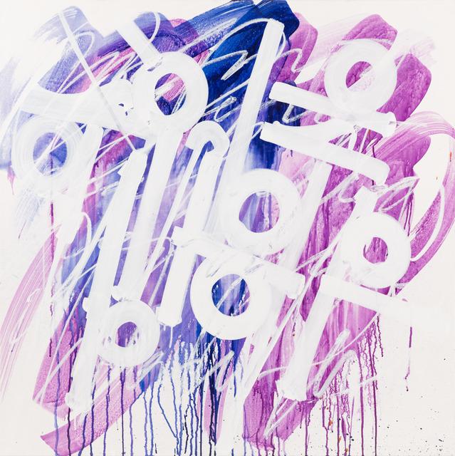 , 'Untitled (purple, white, blue),' 2017, Peter Triantos Galleries