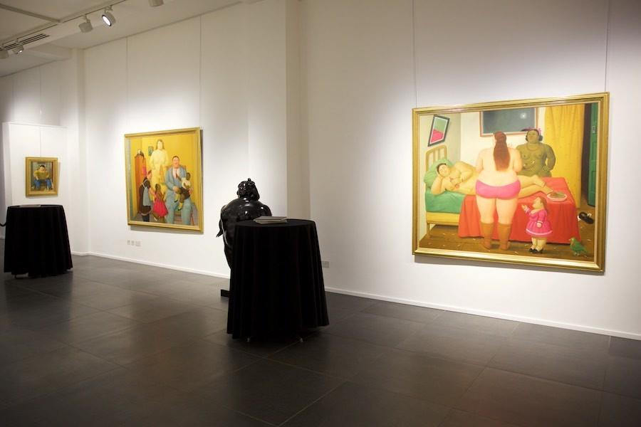 Left to right: Uomo con fisarmonica (2004); Family (201); La poupée (1977); The Whore House (2009)
