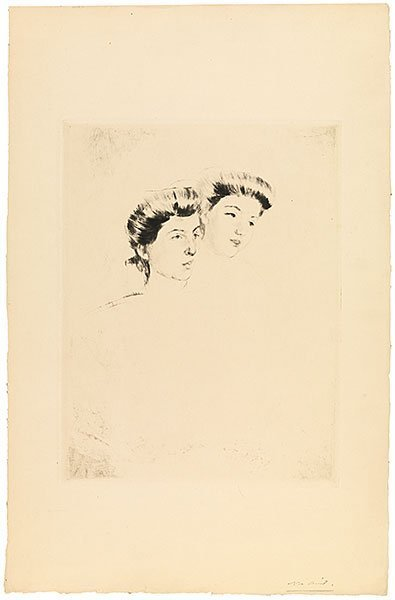 , 'Heads of Two Young Women Looking to Right,' ca. 1898, Adelson Galleries