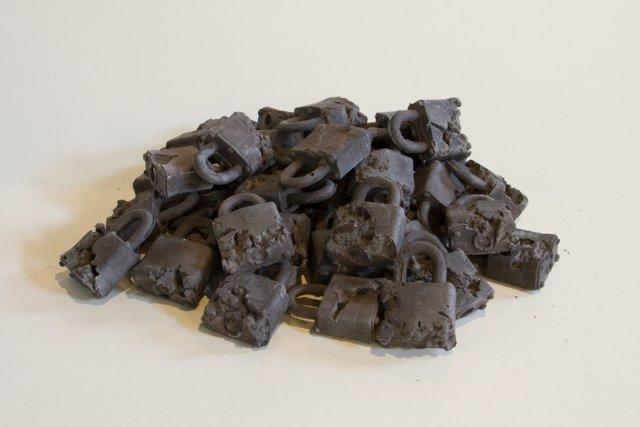 Daniel Arsham, 'Ash Eroded Locks', 2013, Galerie Ron Mandos