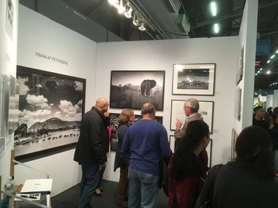 Opening Night in Booth #110: Art and More Gallery with Frank af Petersens at Artexpo New York 2017