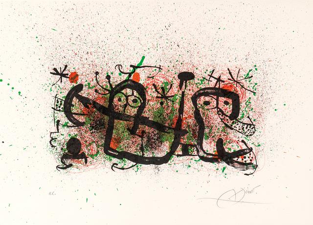 Joan Miró, 'Plate 5, from Ma de Proverbis', 1970, Skinner