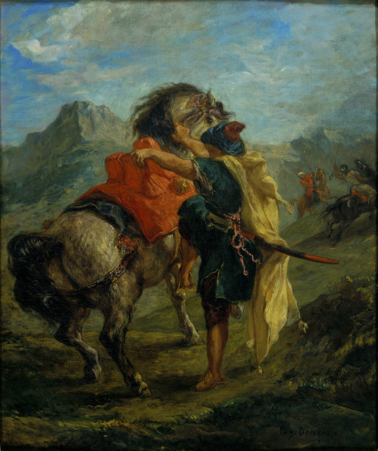 , 'A Moroccan mounting his Horse,' 1854, The National Gallery, London