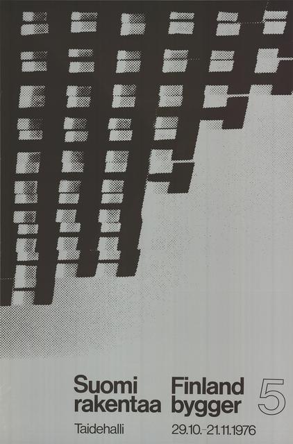 Unknown, 'Finland is Building', 1976, Ephemera or Merchandise, Silkscreen, ArtWise