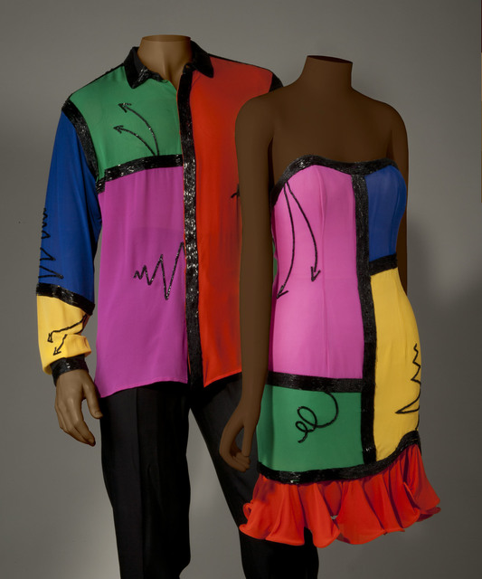 , 'Cocktail dress and men's coordinating dress shirt,' 1990, Bellevue Arts Museum