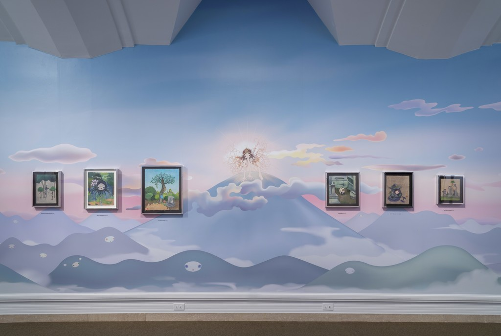 Installation view of Chiho Aoshima: Rebirth of the World, 2015. Photo Joshua White, courtesy of Seattle Art Museum.