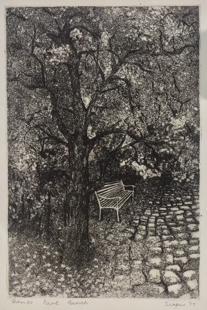 Penny Siopis, 'Park bench', 1977, Dyman Gallery