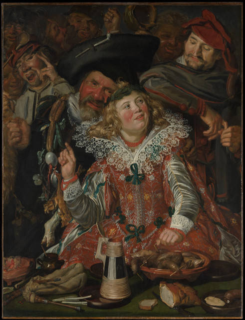 Frans Hals, 'Merrymakers at Shrovetide', ca. 1616–1617, The Metropolitan Museum of Art