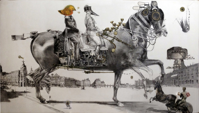 , 'Le Folding à l'amble flottant,' 2017, Galerie Bayart