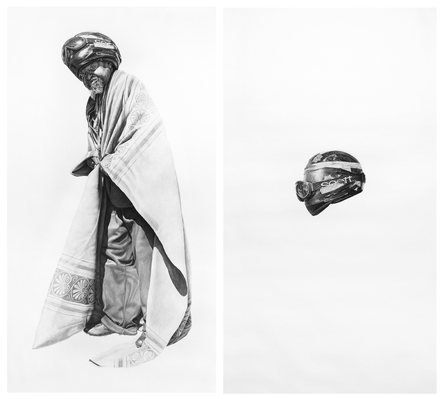 , 'Spaceman #7 and Spaceman's Helmet,' 2016, Hashimoto Contemporary