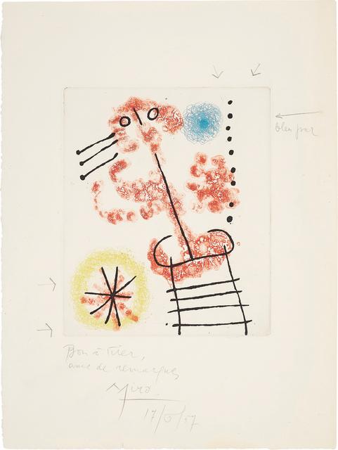 Joan Miró, 'Feuilles éparses (Scattered Leaves): one plate', 1957/1965, Phillips