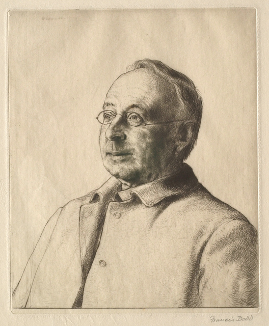 Francis Dodd, 'The Unknown Man', 1910, Print, Etching on wove paper, Clark Art Institute