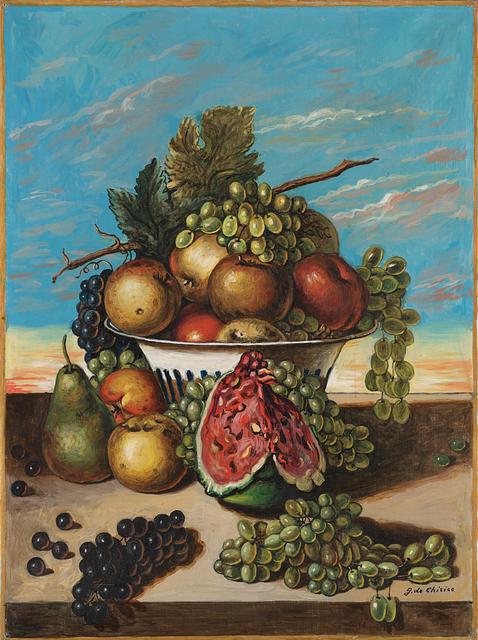 Giorgio de Chirico, 'Natura morta di frutta', mid 60's, Il Ponte