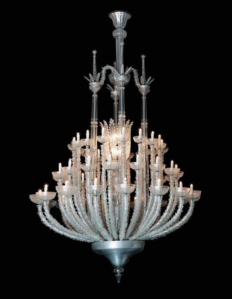 Unique monumental chandelier