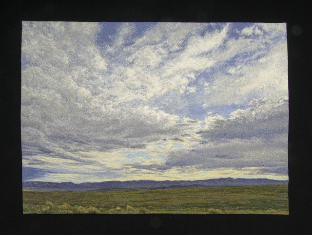 Carol Shinn, 'Sky With Clouds', 2020, Textile Arts, Embroidery, Duane Reed Gallery