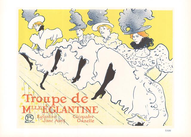 Henri de Toulouse-Lautrec, 'Troupe de Mlle Eglantine', 1966, ArtWise