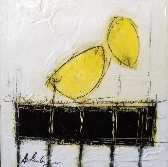 Danielle Lanteigne, 'Citrons sur Table Noire I', 2020, Painting, Acrylic on Canvas, Thompson Landry Gallery