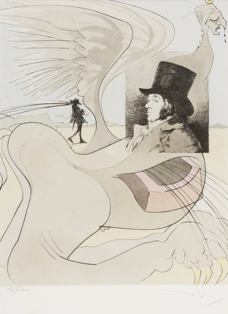 Salvador Dalí, 'Lenguado Menguado (Portrait of Goya). From Les Caprices de Goya de Dali (M & L 848a)', 1977, Forum Auctions