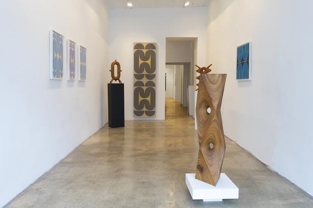 Aleph Geddis, 'Trine', 2020, Sculpture, Hand-carved Monkeypod wood, Massey Klein Gallery