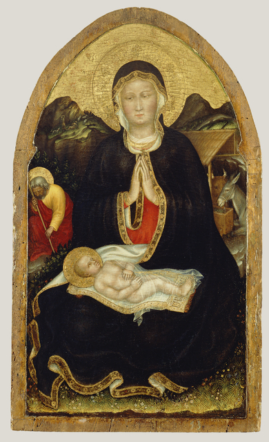 Gentile da Fabriano, 'Nativity,' 1420-1422, J. Paul Getty Museum