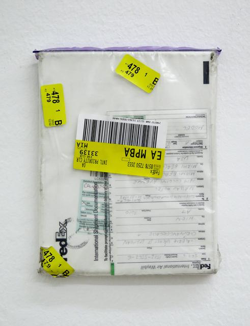 Karin Sander, 'Mailed Painting 92, Sydney-Pittenweem-München-Berlin-Wien-Miami-Wien', 2008, Galerie nächst St. Stephan Rosemarie Schwarzwälder