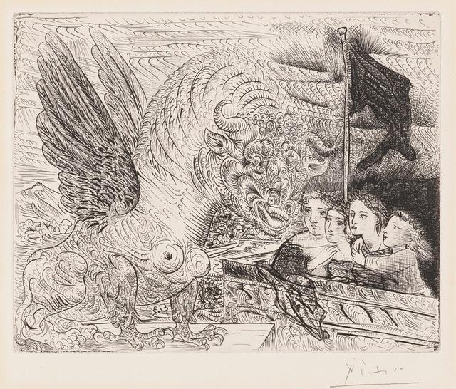 , 'Taureau aile Contemple par Quatre Enfants,' 1934, Concierge Fine Art