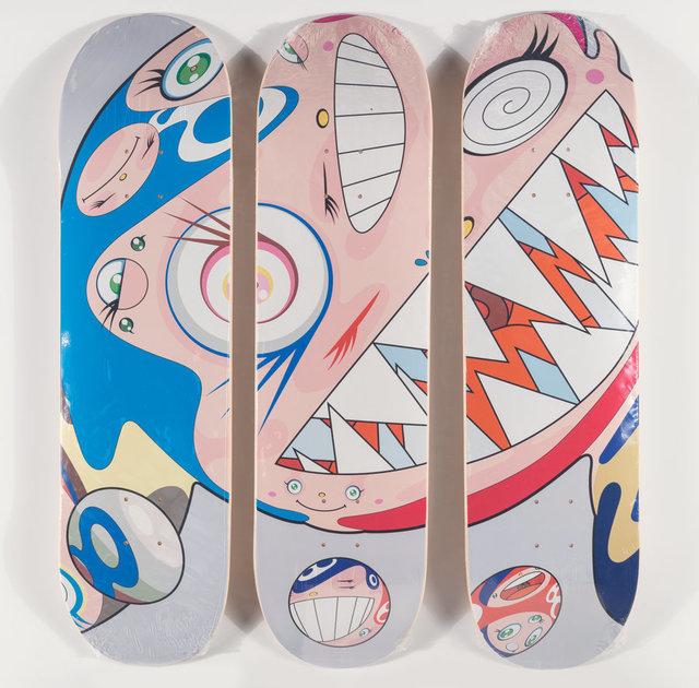 Takashi Murakami, 'Flying DOB, triptych', 2018, Heritage Auctions