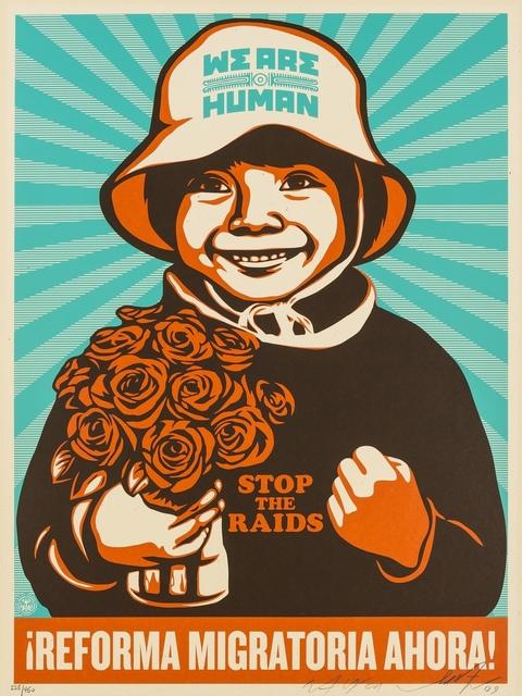 Shepard Fairey, 'Reforma Migratoria Ahora', 2009, Forum Auctions
