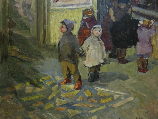 Nadezhda Eliseevna Chernikova, 'Celebrating the New Year', ca. 1970, Surikov Foundation