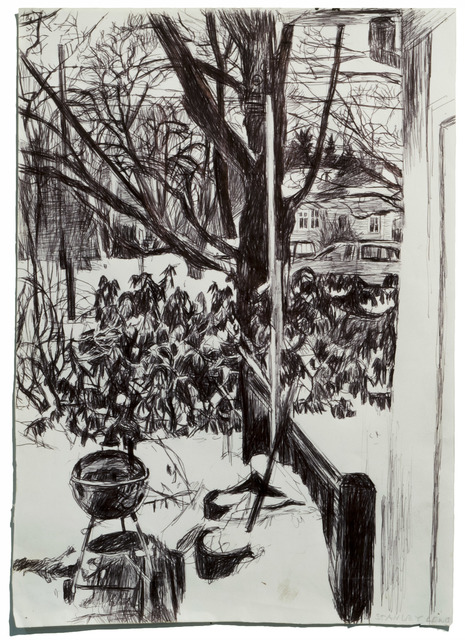 , 'Looking Out Window, Snow and Grill,' 2008, Betty Cuningham