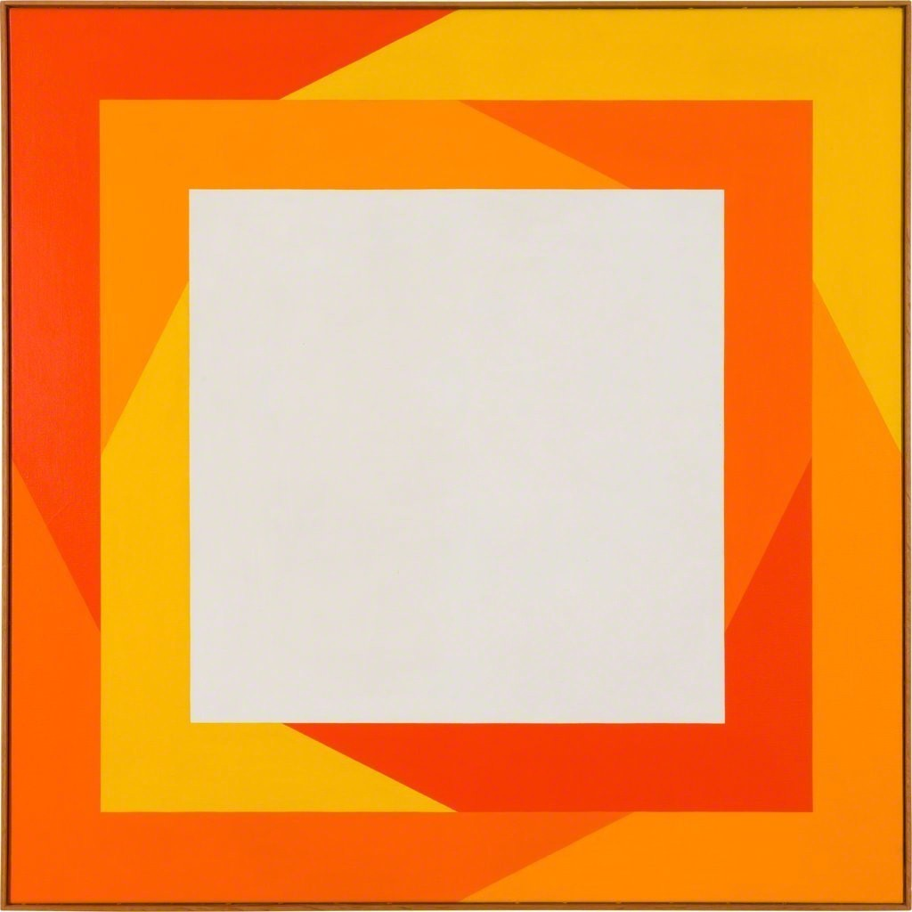 Verena Loewensberg, Ohne Titel, 1970 Oil on canvas 101 x 101 cm