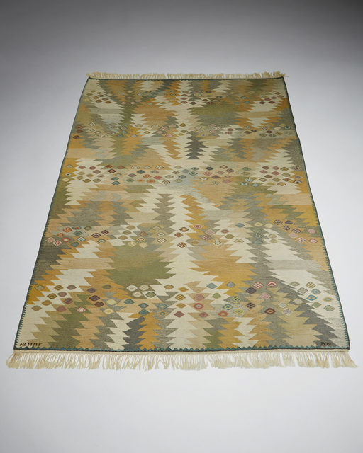 ", 'Rug ""Seaweed Light"" designed by Barbro Nilsson for MMF,  Sweden. 1955. ,' 1955, Modernity"