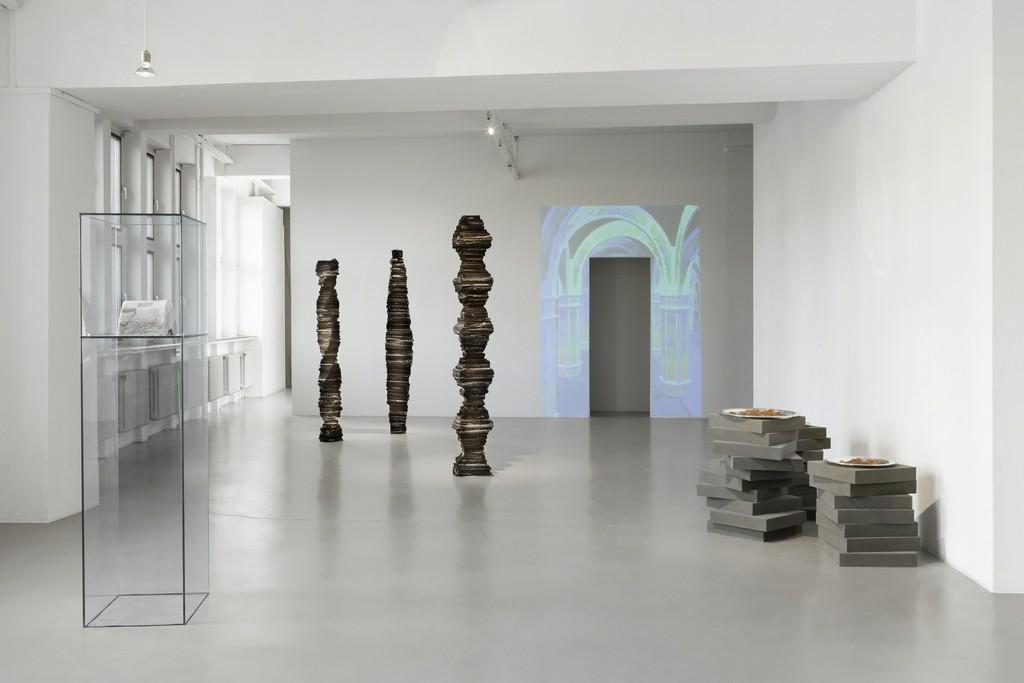 "Anetta Mona Chisa & Lucia Tkacova, Exhibition view ""ah, soul in a coma, act naive, attack"" GAK Gesellschaft für Aktuelle Kunst, 2015, Photo: Tobias Hübel"
