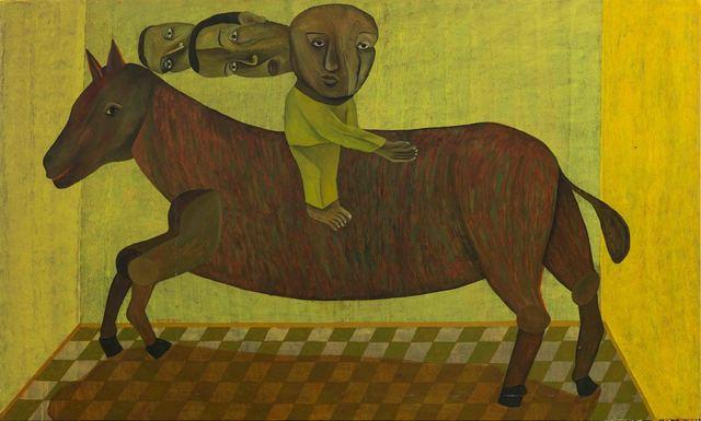 Salah Elmur, 'A Horse from Tinplate / حصان من صفيح', 2019, al markhiya gallery