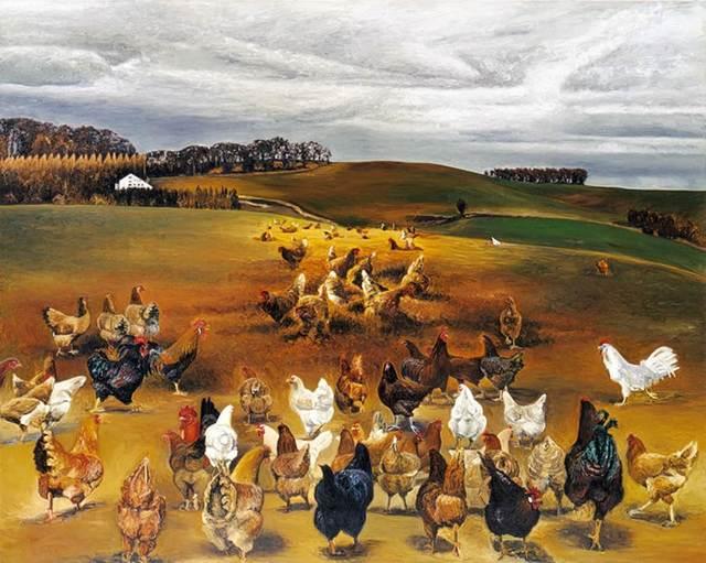 , 'Hühner I,' 1990, Galerie Klaus Gerrit Friese