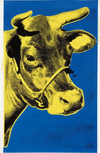 Andy Warhol, 'Cow (F. & S. 12)', 1971, Print, Screenprint in colors, on wallpaper, the full sheet., Phillips