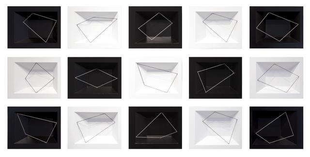 , 'Strophe (black) and Antistrophe (white), 1-12,' 2018, Cheryl Hazan Gallery