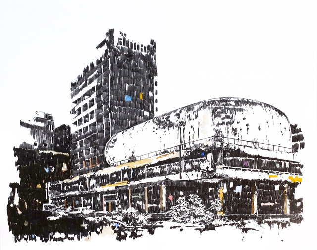 , 'Mémoire d'architecture, le songe de Beyrouth II,' 2016, Gowen Contemporary