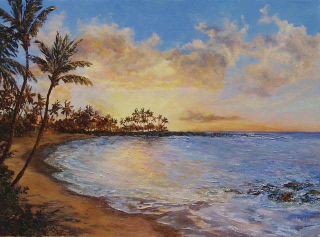 , 'Sunset at Pauoa Bay,' 2018, Tiffany's Art Agency