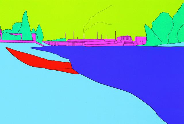 Michael Craig-Martin, 'Deconstructing Seurat (blue) 2', 2004, Serge Sorokko Gallery