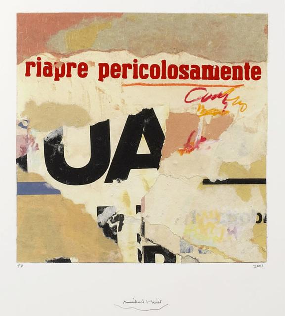 , 'Pericolosamente,' 2011, IFAC Arts